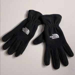 The North Face Charcoal Grey Fleece Gloves Sz M